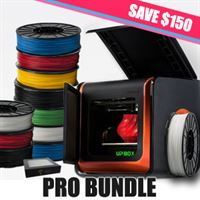 UP Box Pro and Filament Bundle Save 150