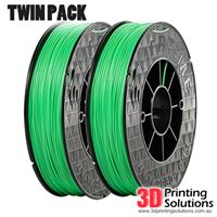 Genuine ABS+ UP Premium Filament Green 1.75mm Twin Pack (2 x 500g)