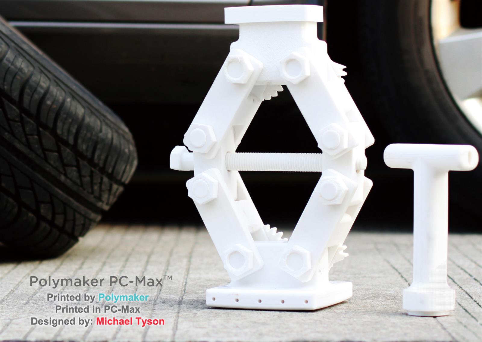 Design of car jack - Nicolas Tokotuu From Polymaker Decided To See If Our Jack Design Printed In The New Pc Max Could Lift A Real Car When Printing Nicolas Decided To Print