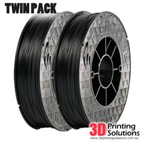 Genuine ABS+ UP Premium Filament Black 1.75mm Twin Pack (2 x 500g)
