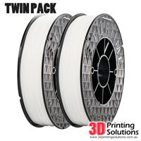 Genuine ABS+ UP Premium Filament White 1.75mm Twin Pack (2 x 500g)