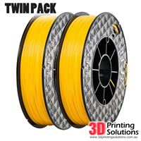 Genuine ABS+ UP Premium Filament Yellow 1.75mm Twin Pack (2 x 500g)