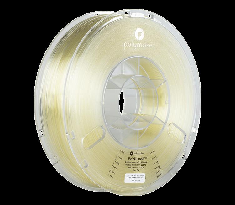 Polymaker 3D Filament PolyDissolve S1 Dissolveable Support Filament TPU Filament PolyDissolve S1 Natural 1.75 Filament for PLA Filament PolySmooth and Nylon Filament 1.75mm, 750g