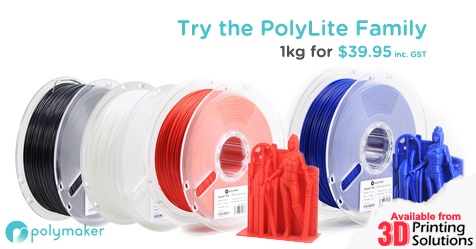 Try Polymakers new PolyLite ABS and PLA!