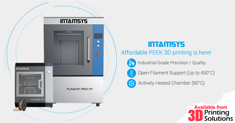 Affordable PEEK 3D printing is here with Intamsys Industrial 3D Printers