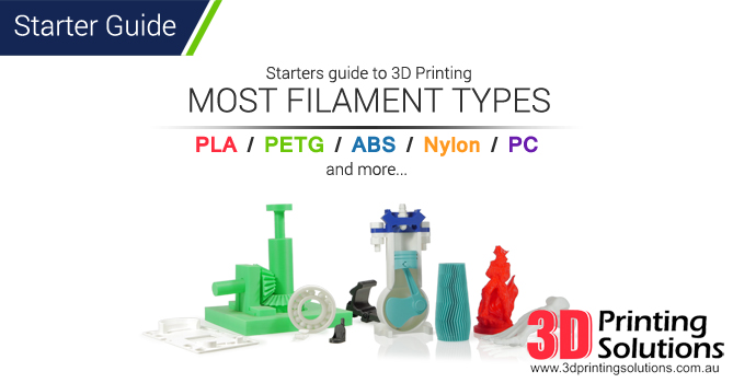 Starters guide to 3D Printing popular filaments