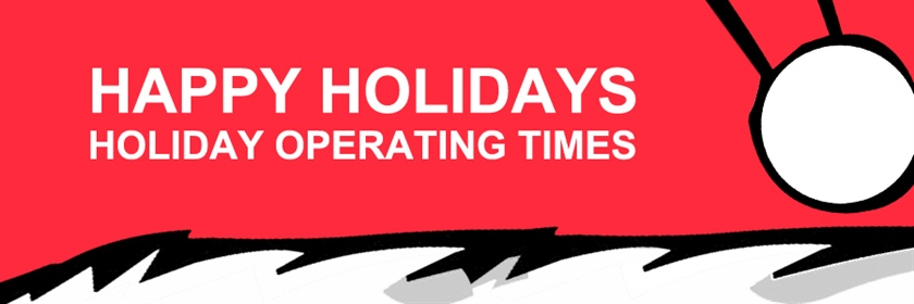 Happy Holidays / Opening Hours 2018-2019