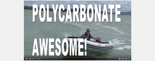 Poly Carbonate 3D Printed Outboard Propeller Powers Boat at full speed