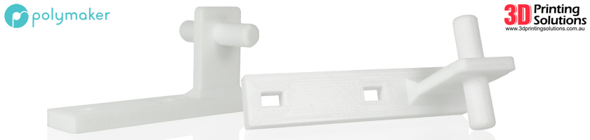 Replacement hinge printed in Polymakers PC-Max™ PolyCarbonate