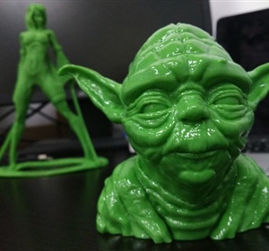 PolySmooth printed Yoda [SMOOTHED IN POLYMAKER POLYSHER]