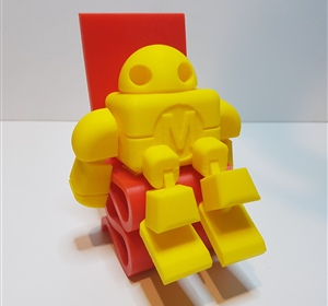 Robot sitting on a chair printed on the UP Plus 2