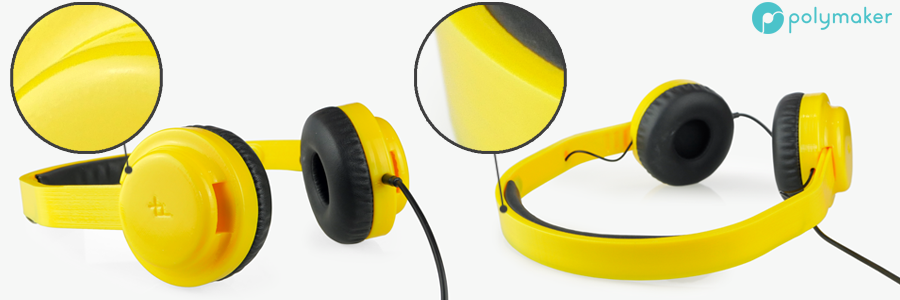 Polymaker Polysher PolySmooth 3D Printed Headphones