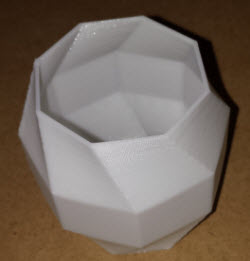 3D Printed Vase made from PolyFlex