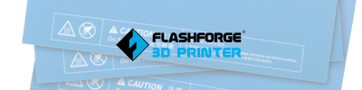 FlashForge 3D Printer Stickers